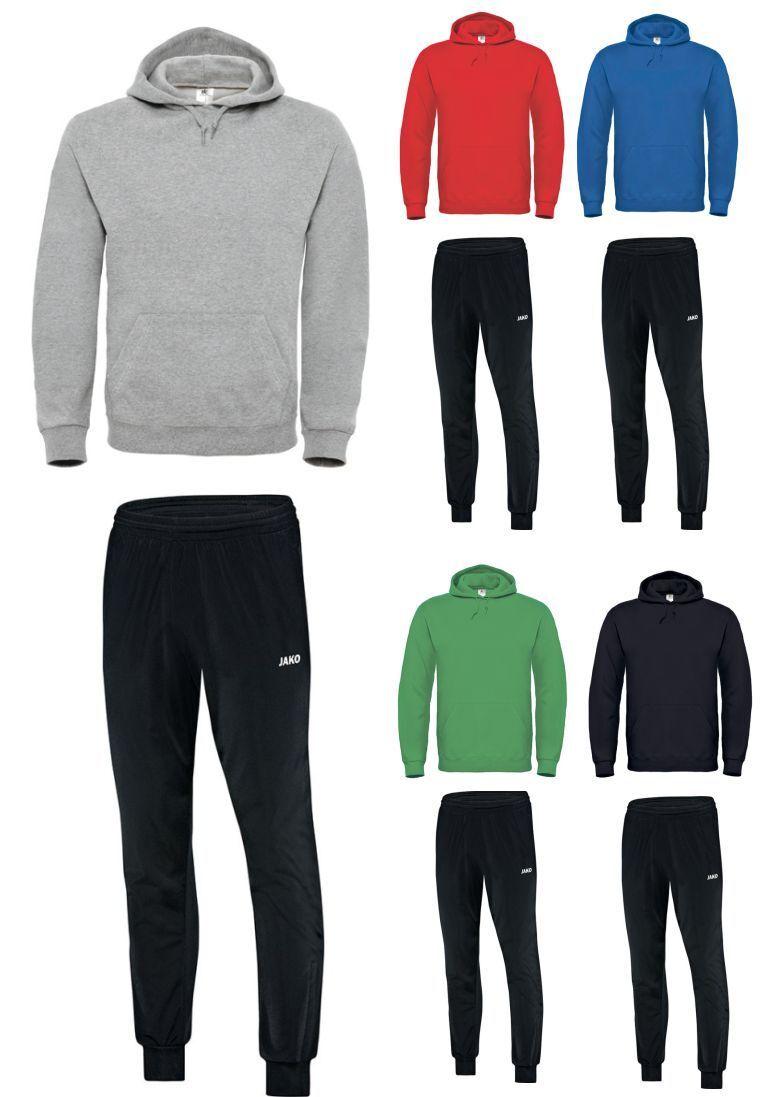 JAKO JAKO JAKO Classico Polyesterhose für Trainingsanzug Polyesteranzug mit Hoody Hoodie 27950c