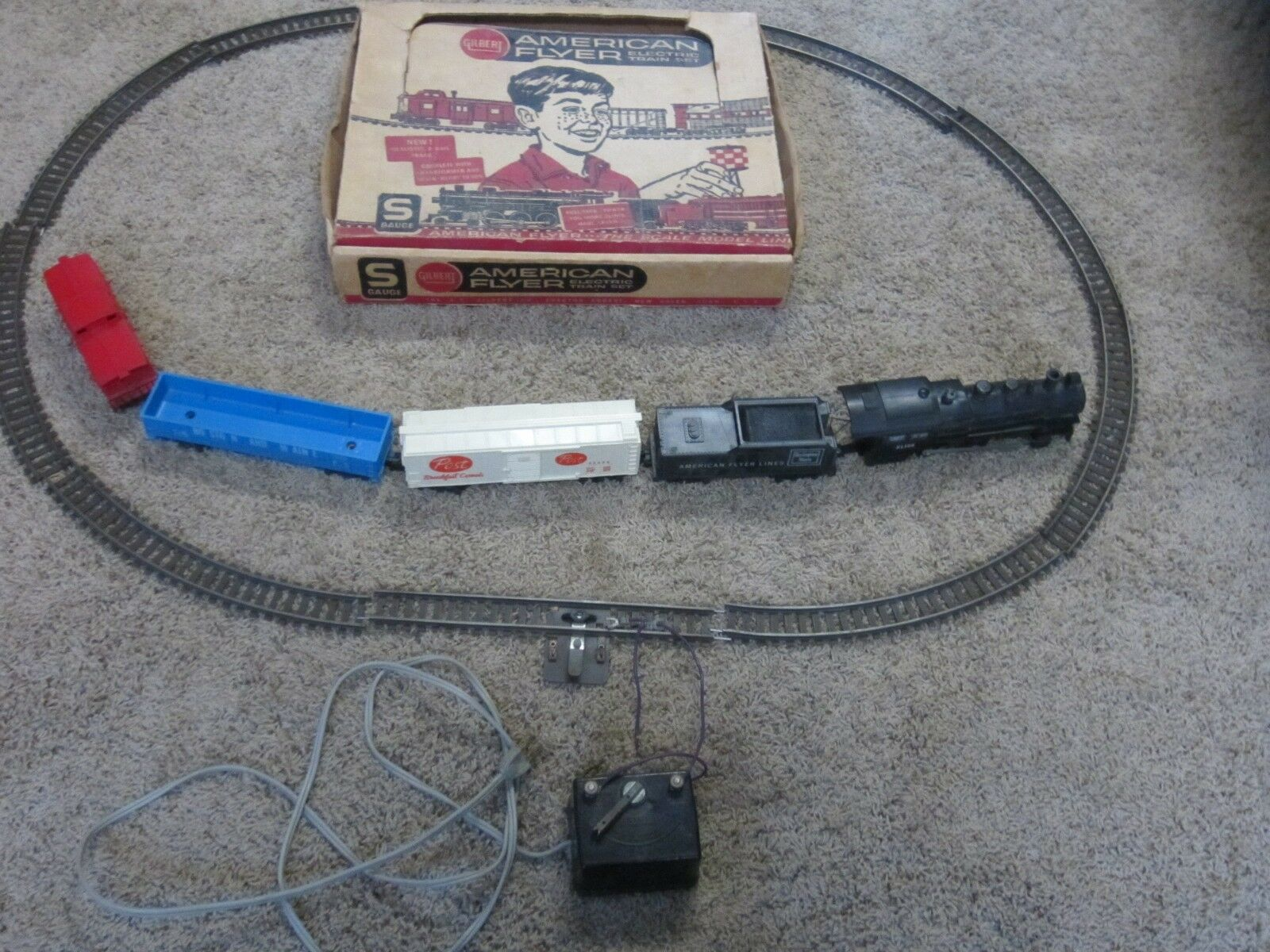 1960s American Flyer train set model 20763