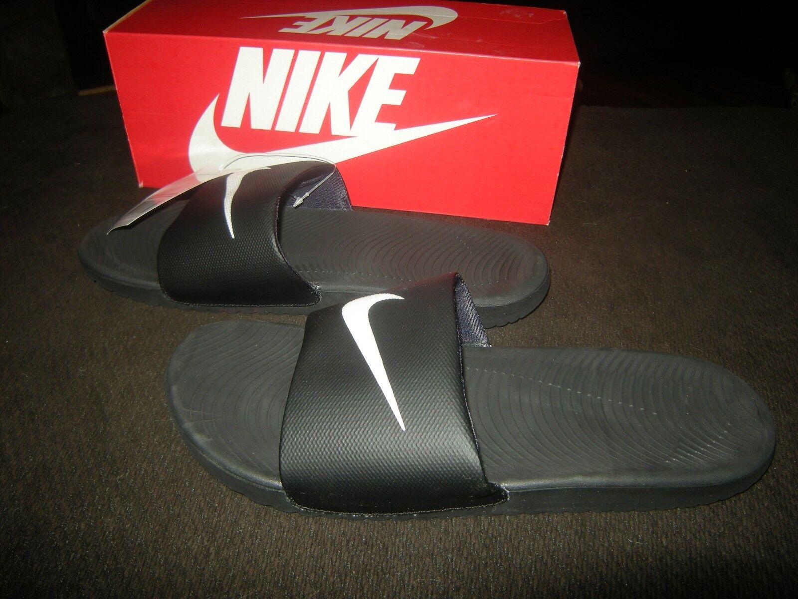 new product 34f2f faf47 Brand New Mens Black Black Black   White Nike Kawa Slide On Sandals, Size 10  64e475