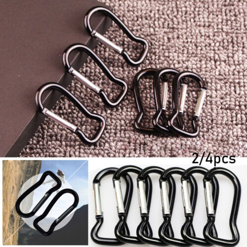 Strong Metal Carabiner Black Climbing Buckles Buckle Keychain Fish Style