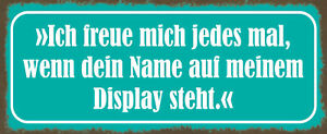 Freue Mich - Your Name on My Display Shield Metal Tin Sign 10 X 27 CM K2016