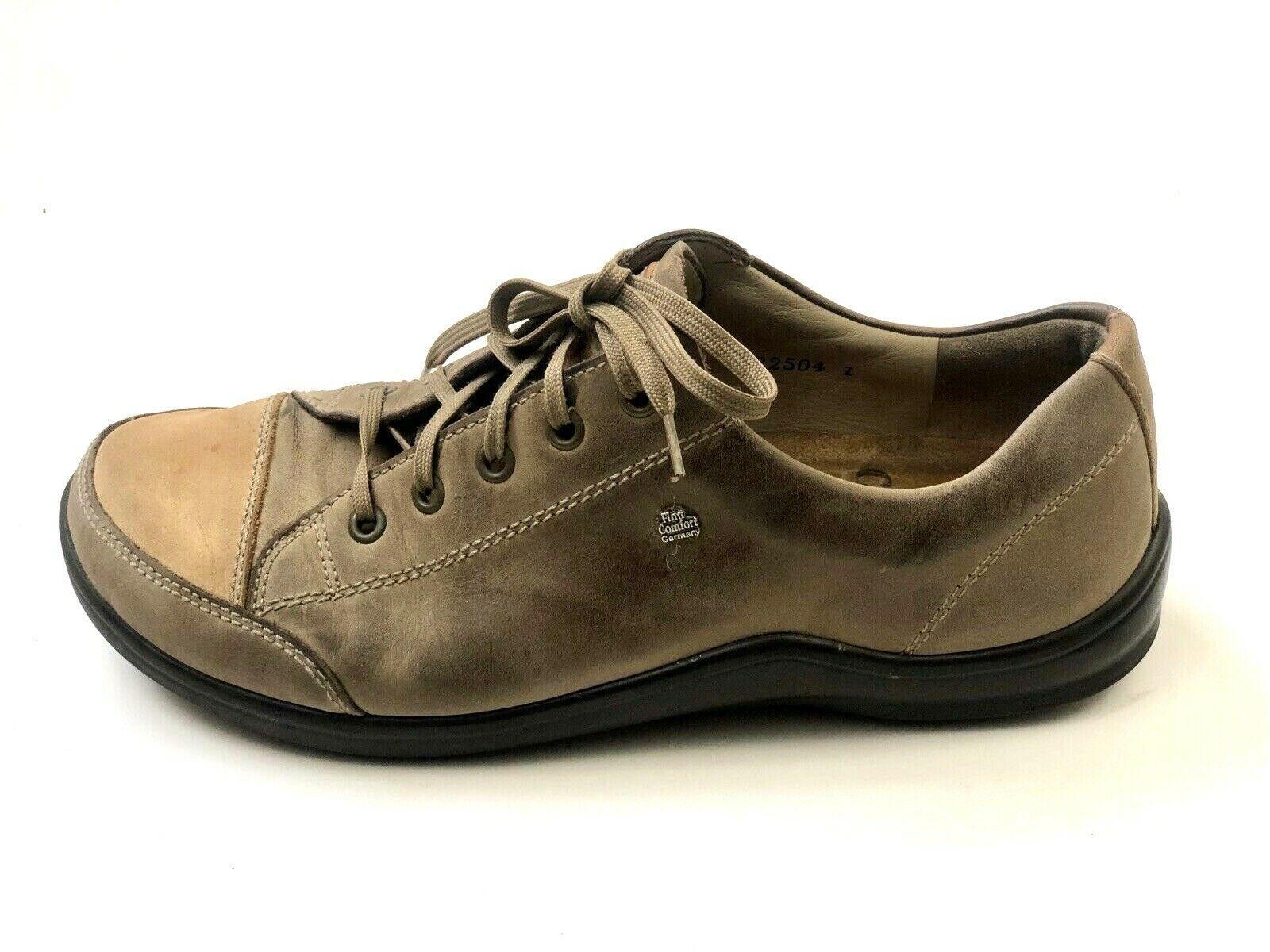 FINN COMFORT Germany Soho Brown Leather Lace Up Walking Walking Walking Sneaker EU 38   7 - 7.5 6fa990