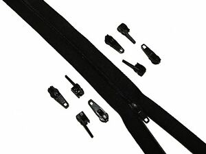 5 Metres Black Continuous Zipping  10 Zips Upholstery Cushions - Pewsey, United Kingdom - 5 Metres Black Continuous Zipping  10 Zips Upholstery Cushions - Pewsey, United Kingdom