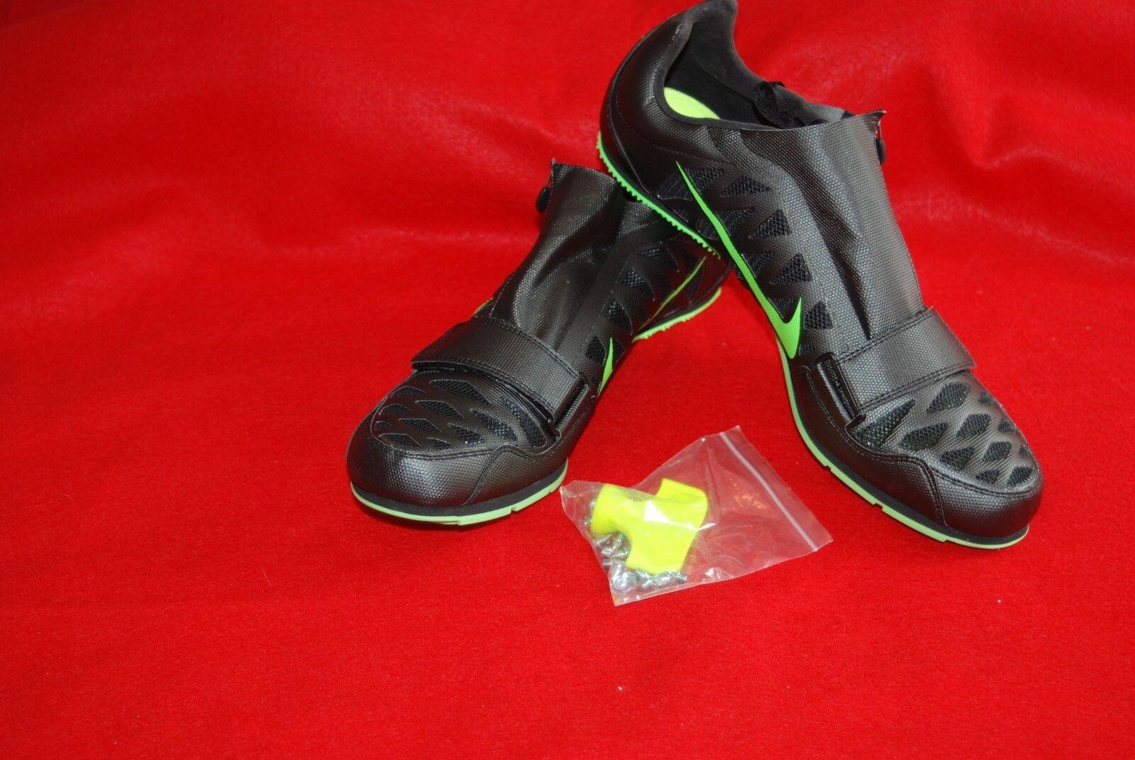 Nike Zoom LJ 4 Jump Unisex Track Spikes 415339-035 Black Green Comfortable