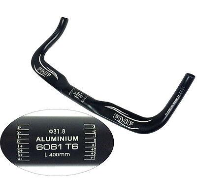 Urban Fixed Gear Road Bike racing TT Triathlon Bullhorn Bar Handlebar 25.4*370mm