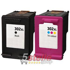 2 Cartucce per HP 302xl BLACK NERO ENVY 4520 4521 4522 4524 4525 e All in One
