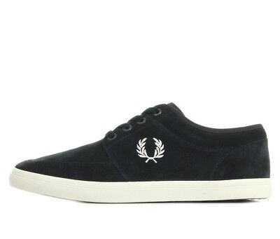 Fred Perry Men/'s Stratford Suede Leather Trainers Casual Shoes B6288-608 Navy
