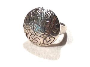 Bijou-argent-925-bague-ronde-ciselee-taille-51-ring
