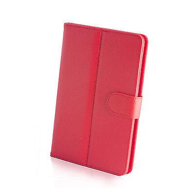 "Bellissimo Borsa Custodia Book Case Pu Universale Per Tablet 7"" 7 Pollici Rossa"