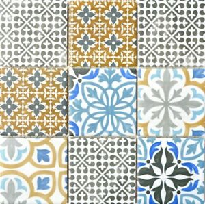 Mosaik-Fliese-Vintage-Retro-Multicolor-Kueche-Rueckwand-Keramik-22B-1406-b-1Matte