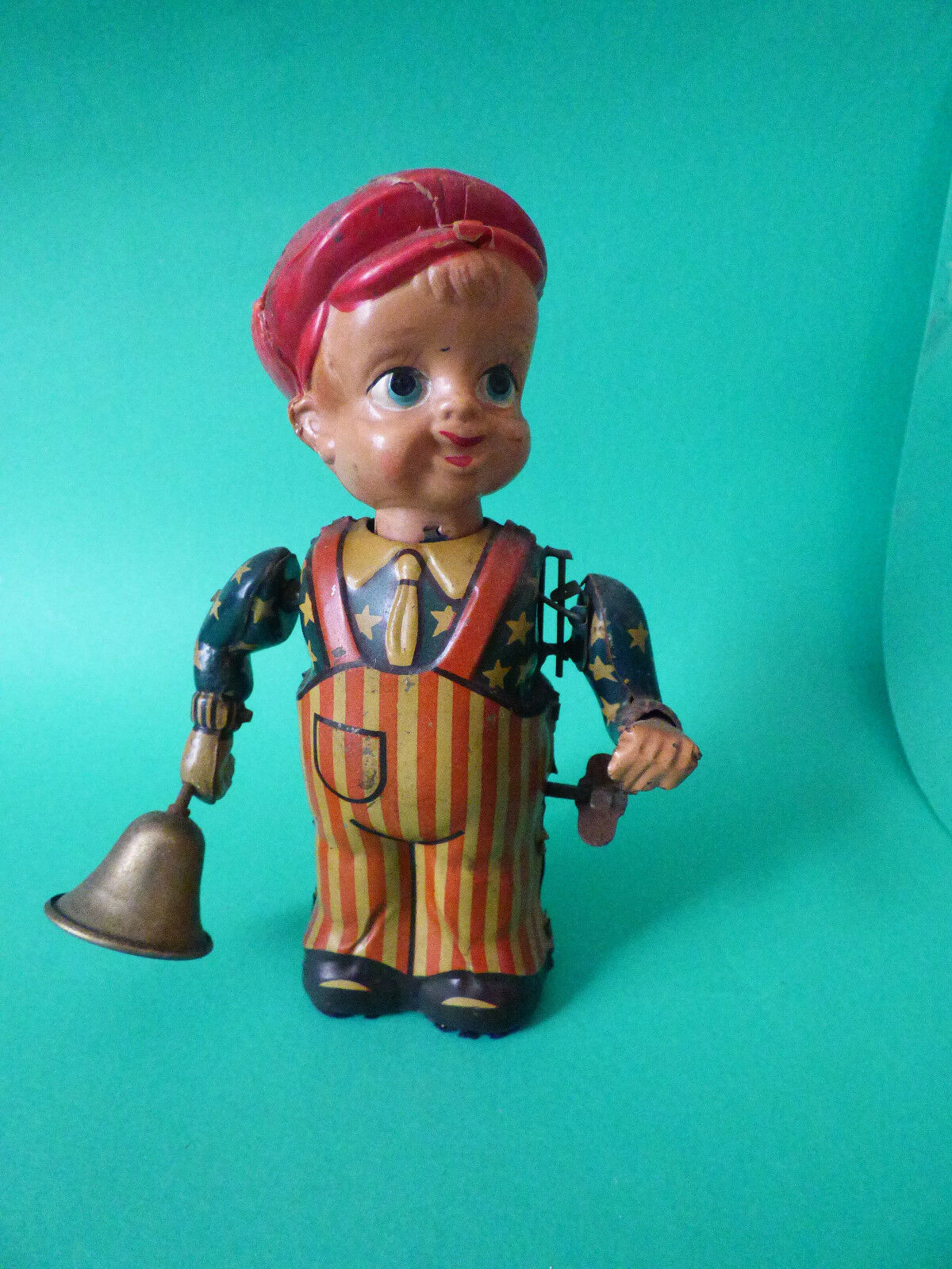 VINTAGE Nikko Toy NEWS BOY 1950s Tin Toy ULTRA RARE