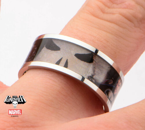 NEW Punisher Licensed Marvel Superhero Comic Graphic Stainless Steel Ring