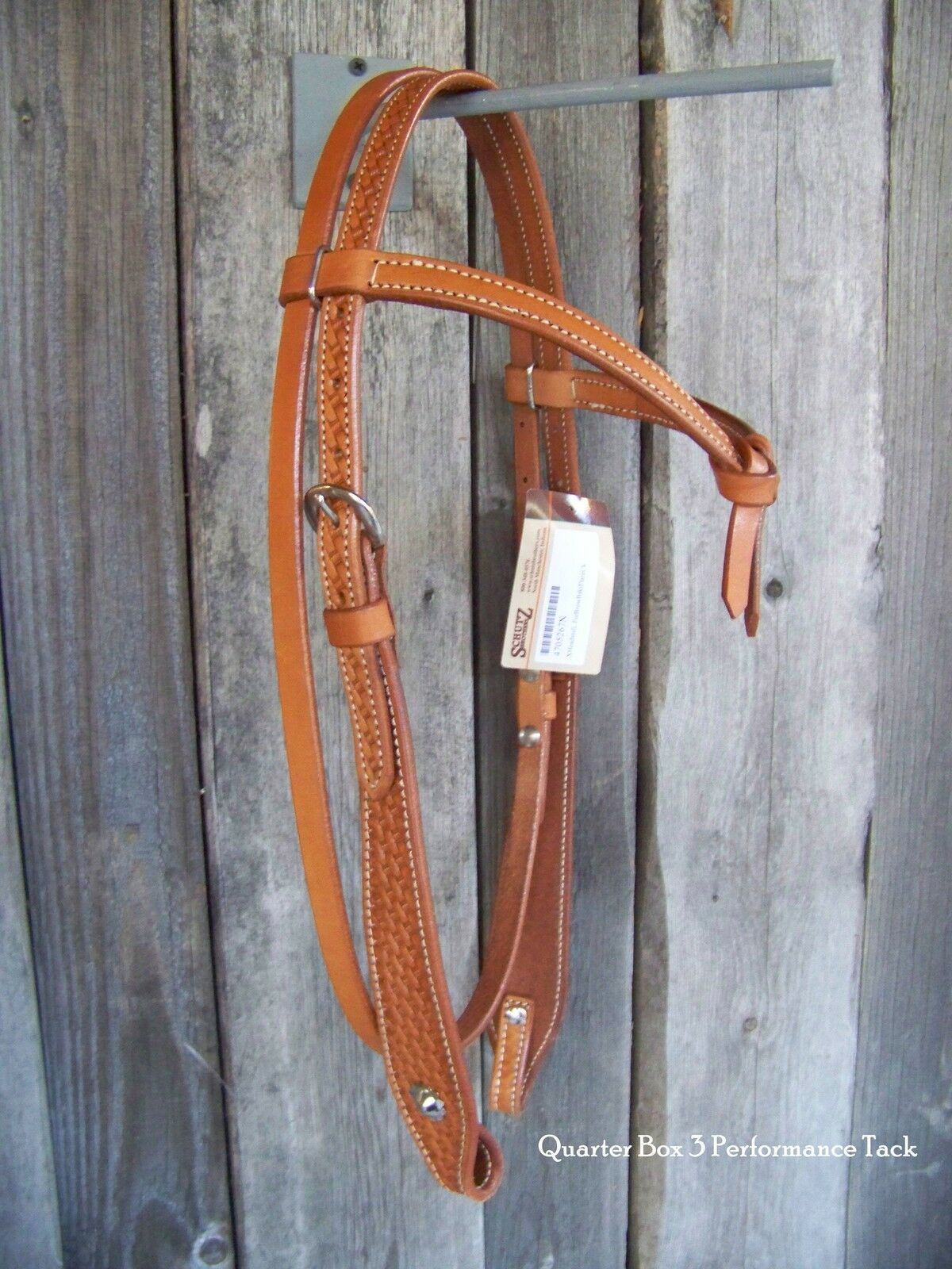 Headstall - Futurity Knot with Basketweave and Flare Cheek