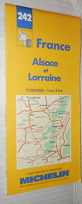 Cartina Stradale Francia Michelin.Carta Stradale Michelin N 242 Francia Alsace Et Lorraine Scala 1 200000 Mappa Di Ebay