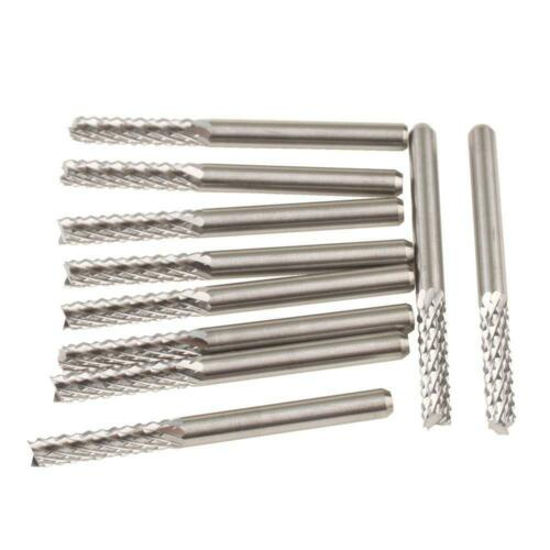 10P Coat Carbide 3.175mm 15//16//17//22mm End Mill Engraving Bits CNC Rotary Burrs