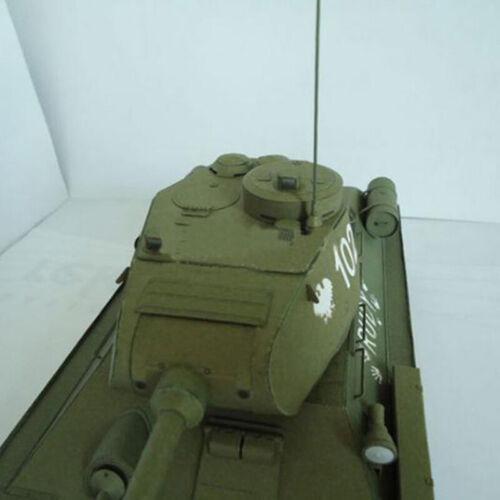 27*12cm Soviet Union T-34 Medium Tank DIY 3D Paper Card ModeHFUK