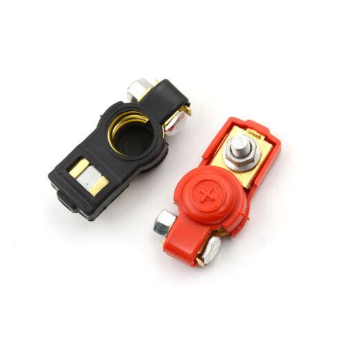 1 Pair Brass Positive Nagative Car Battery Terminal Clamp Clips Connector TE