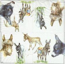 2 serviettes en papier Animal Ferme Ane âne Decoupage Paper Napkins Donkey