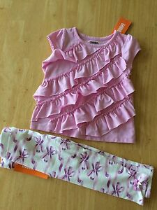 New Gymboree 2T Girls Pink Ruffle Front Soft Knit Top Center Stage