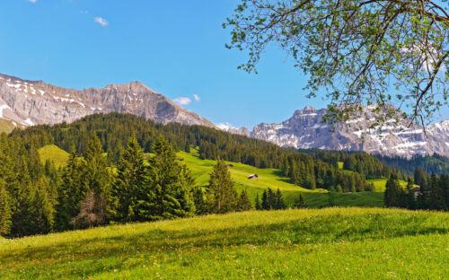 "SWITZERLAND MOUNTAINS A4 POSTER GLOSS PRINT LAMINATED 11.7/"" x 7.3/"""