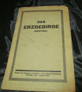 Das Erzgebirge-Westteil 20er Jahre Reklame-Landkarte Region um Grünhainichen