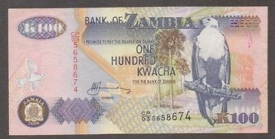 2008 Issue Look! Crease-Resistance 100 Kwacha Honey Zambia Banknote