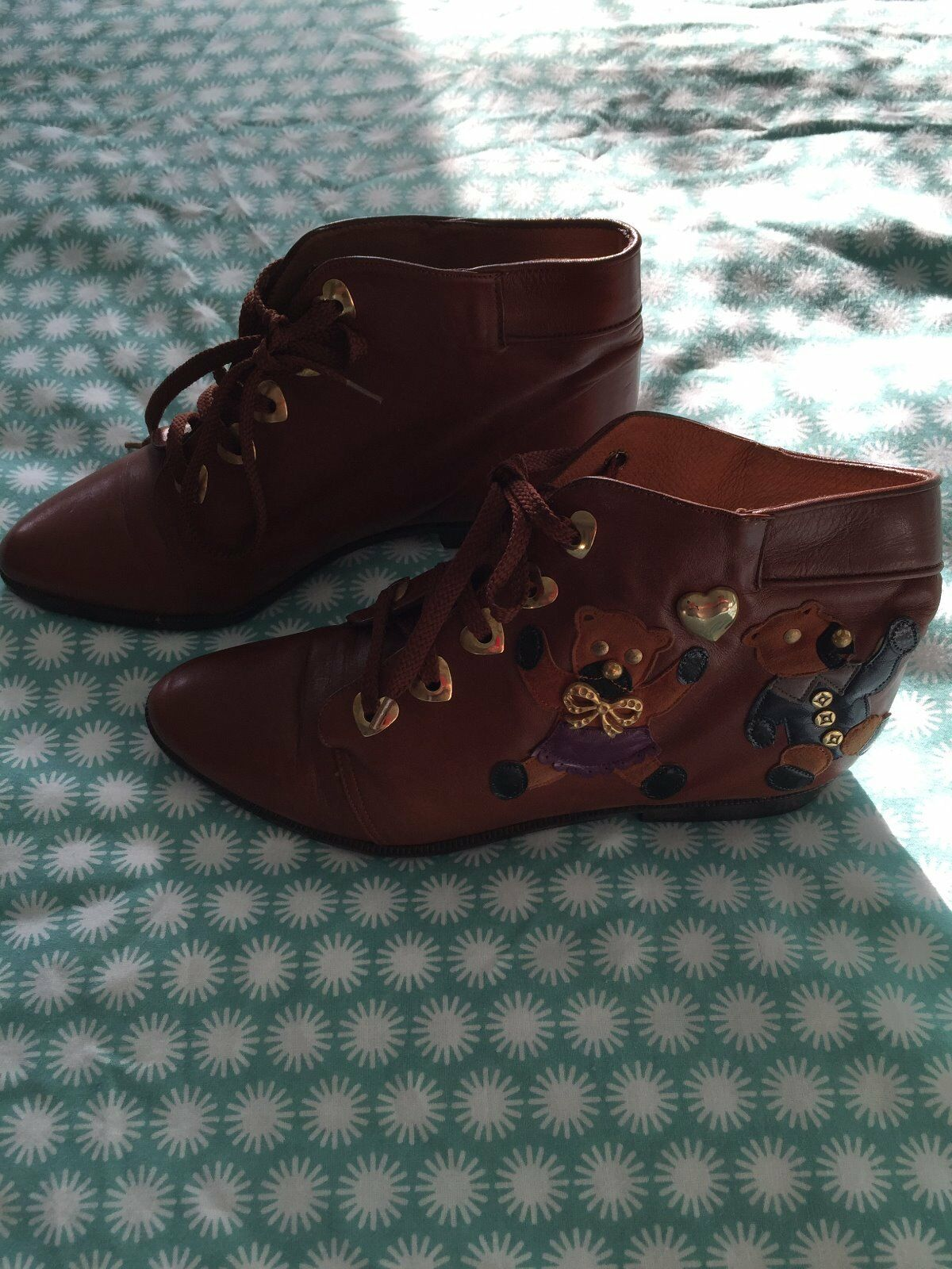 Beverley Feldman Femmes Teddy Bear BOTTINES-Neuf