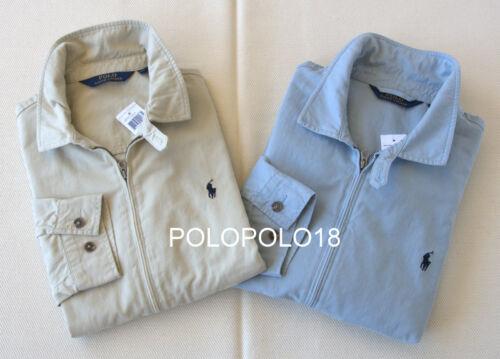 New Polo Ralph Lauren Pony Chino Jacket Windbreaker Beige Blue 2XL