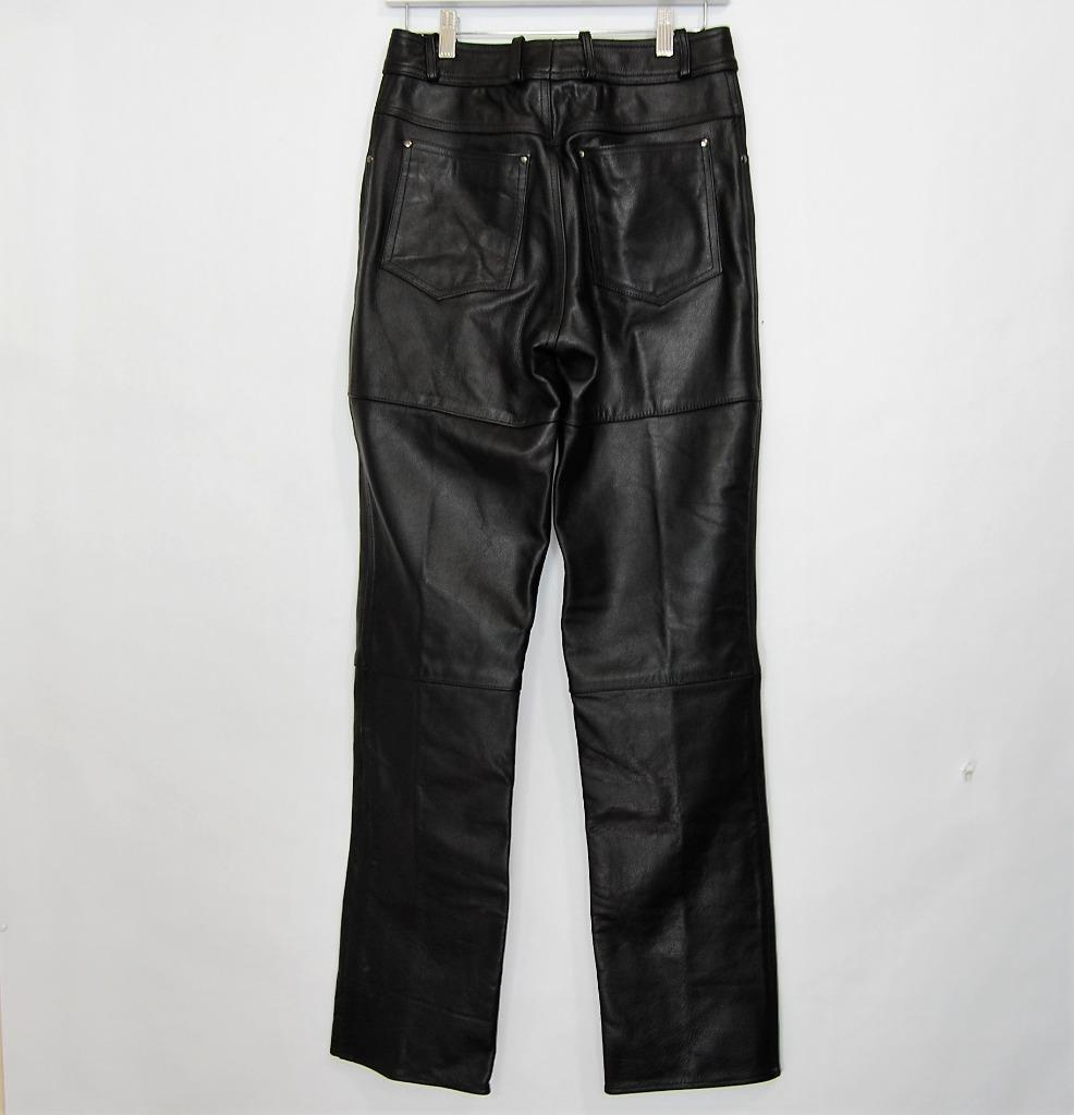 Echtes Leder Women Leahter Motorcycle Pants New Without Tag  Size (27x31)