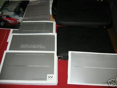 2004 Infiniti G35 Coupe Owners Manual SET