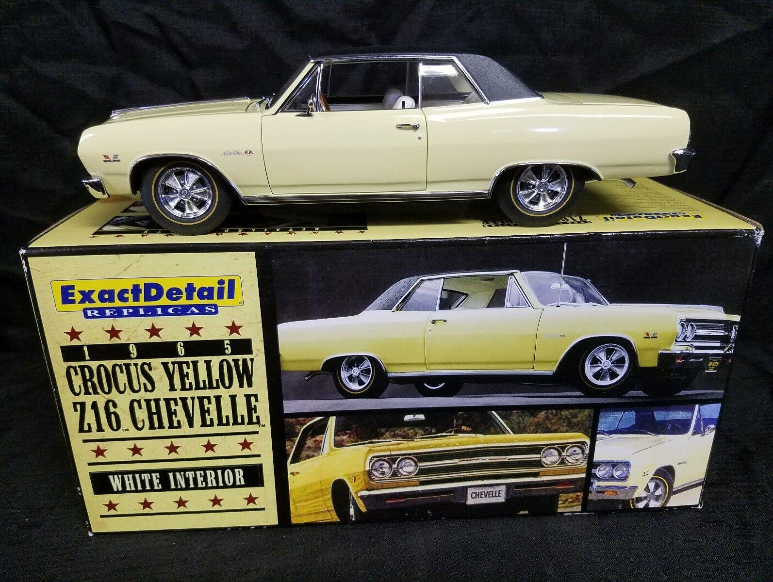 Lane genaue details 1965 chevelle malibu ss 396 turboprop z16 crocus gelb - weiße
