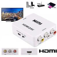 Mini Composite 1080P HDMI to RCA Audio Video AV CVBS Converter Adapter For HDTV