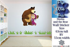 Masha and the Bear WALL STICKER CHILDRENS BEDROOM WALL DECAL