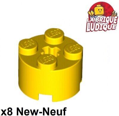 Lego 2x brique ronde brick round 2x2 jaune trans yellow 3941 NEUF