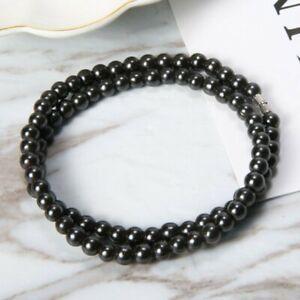 Magnetique-Hematite-perles-colliers-vintage-ronde-perle-noire-de-soins-de-sante-Hot-Cadeau