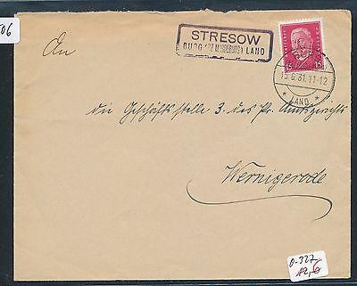bz Magdeburg Brief 1931 Ausgereifte Technologien Land Dr > Ddr Landpost Ra2 Stresow Burg 90506