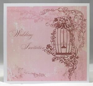 Vintage Birdcage Wedding Invitations personalised envelopes day