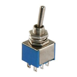 5-x-Miniatur-Kippschalter-2-polig-6-Kontakte-2-x-Umschalter-Ein-Ein-4303