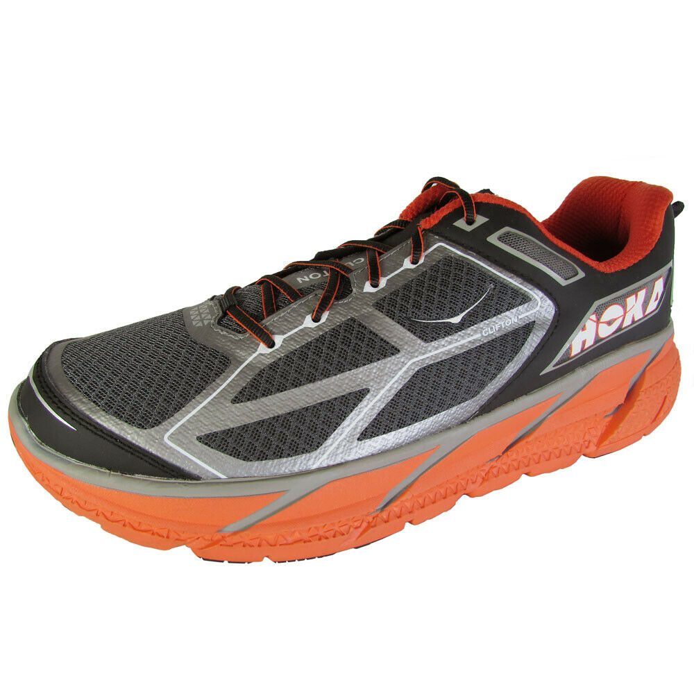 150 Hoka One One Mens Clifton Running Sneaker shoes, Silver Flame Black, US 11.5