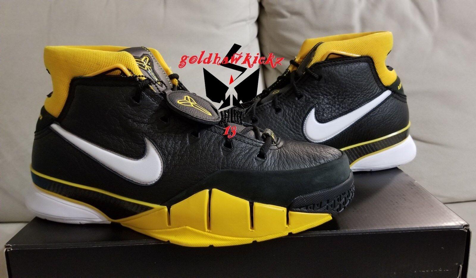 2018 Nike Zoom Kobe 1 protro protro 1 aq2728 003 del sol Varsity maíz negro 81 Mamba modelo mas vendido de la marca 5cfce9