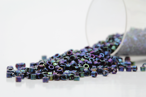 Miyuki Delicas 11//0 Iris Blue Seed Beads DB-002