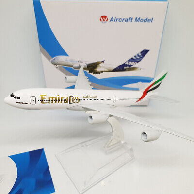 AIRPLANE 16cm METAL PLANE MODEL EMIRATES AIRBUS 340 AIRCRAFT A340 FOR KIDS GIFT