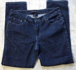 Levi-039-s-Women-039-s-Size-8-Mid-Rise-Skinny-Denim-Blue-Jeans-Dark-Wash