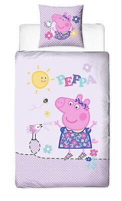 Bettwaren, -wäsche & Matratzen Peppa Pig Wutz Biber/flanell Kinder Bettwäsche 2 Tlg 80x80 135x200 Cm Baumwolle Gutes Renommee Auf Der Ganzen Welt