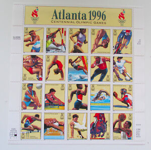 1996-Atlanta-Olympic-Games-Mint-MNH-Sheet-of-20-Postage-Stamps