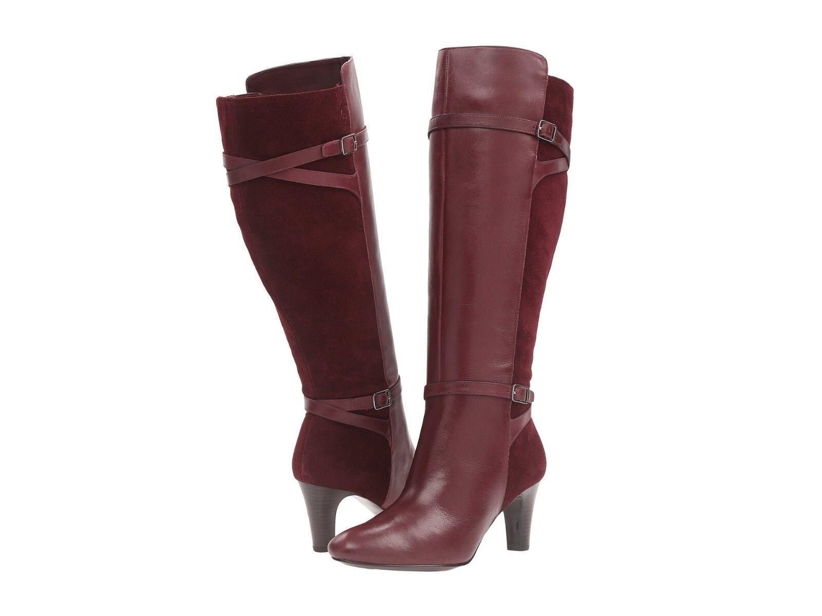 ultimi stili Ralph Lauren Lauren Lauren Donna  stivali Sabeen Wide Calf High Heels Dress stivali  nuovo di marca
