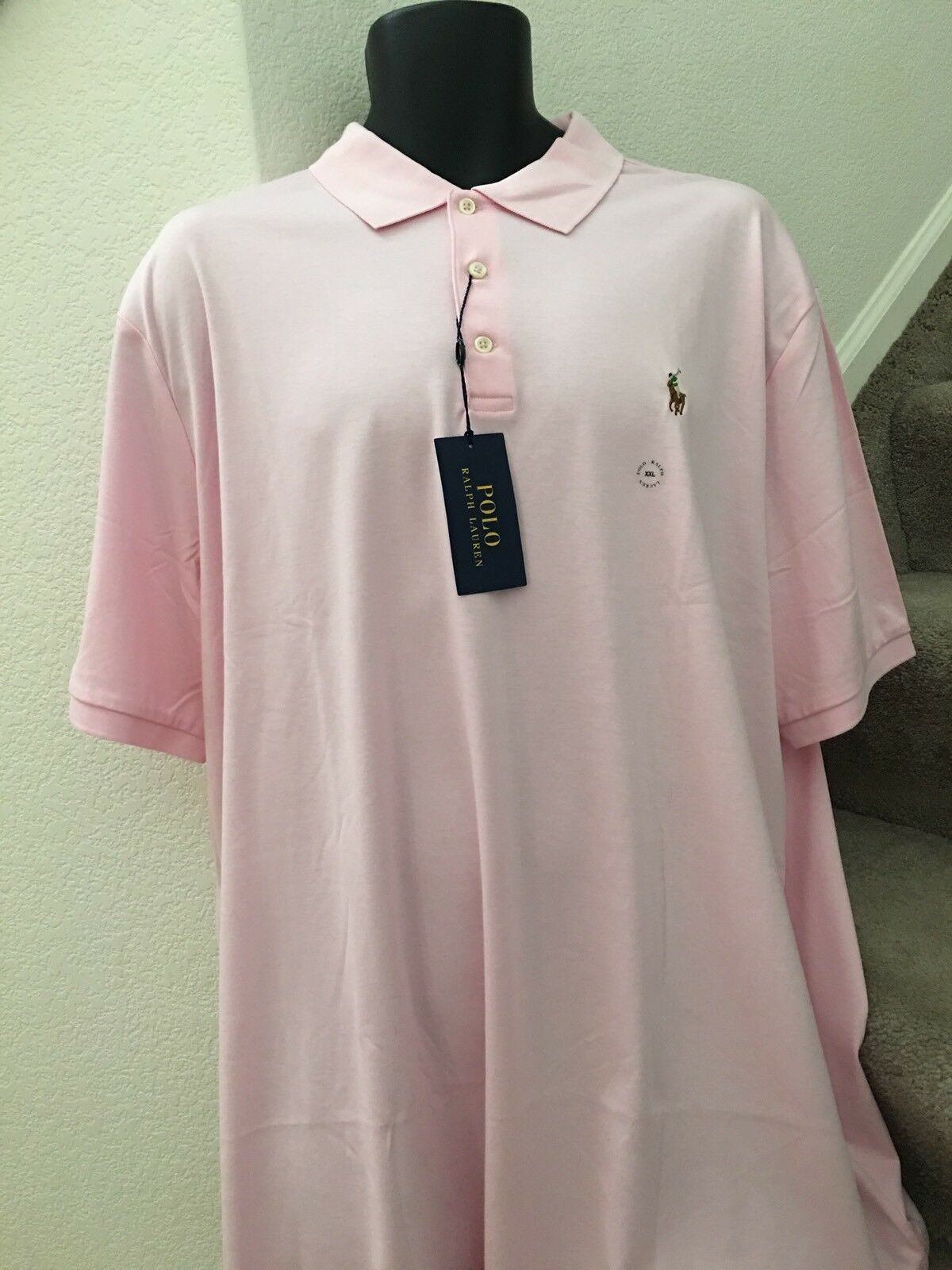 Polo Ralph Lauren Mens Classic Fit Soft Touch Cotton Polo Shirt Size XXL Pink
