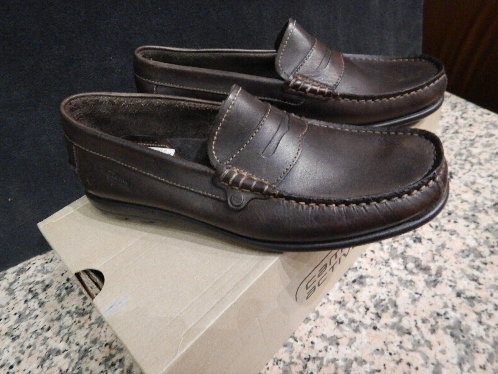 Camel Active travel señores Slipper zapato de cuero moca talla 40,5