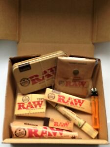 RAW-SMOKERS-BOX-SET-Rolling-Mat-Tin-Ashtray-Rolling-Papers-Roach-amp-More