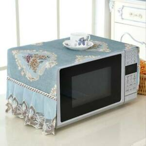 Microwave Oven Cover Kitchen Oil Dust Waterproof Double Pockets Kitchen LJ